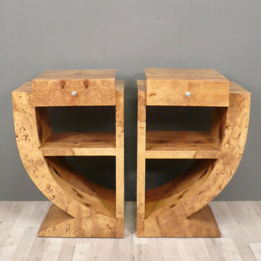 Par de mesas de noche de arte deco art deco muebles - Art deco muebles ...