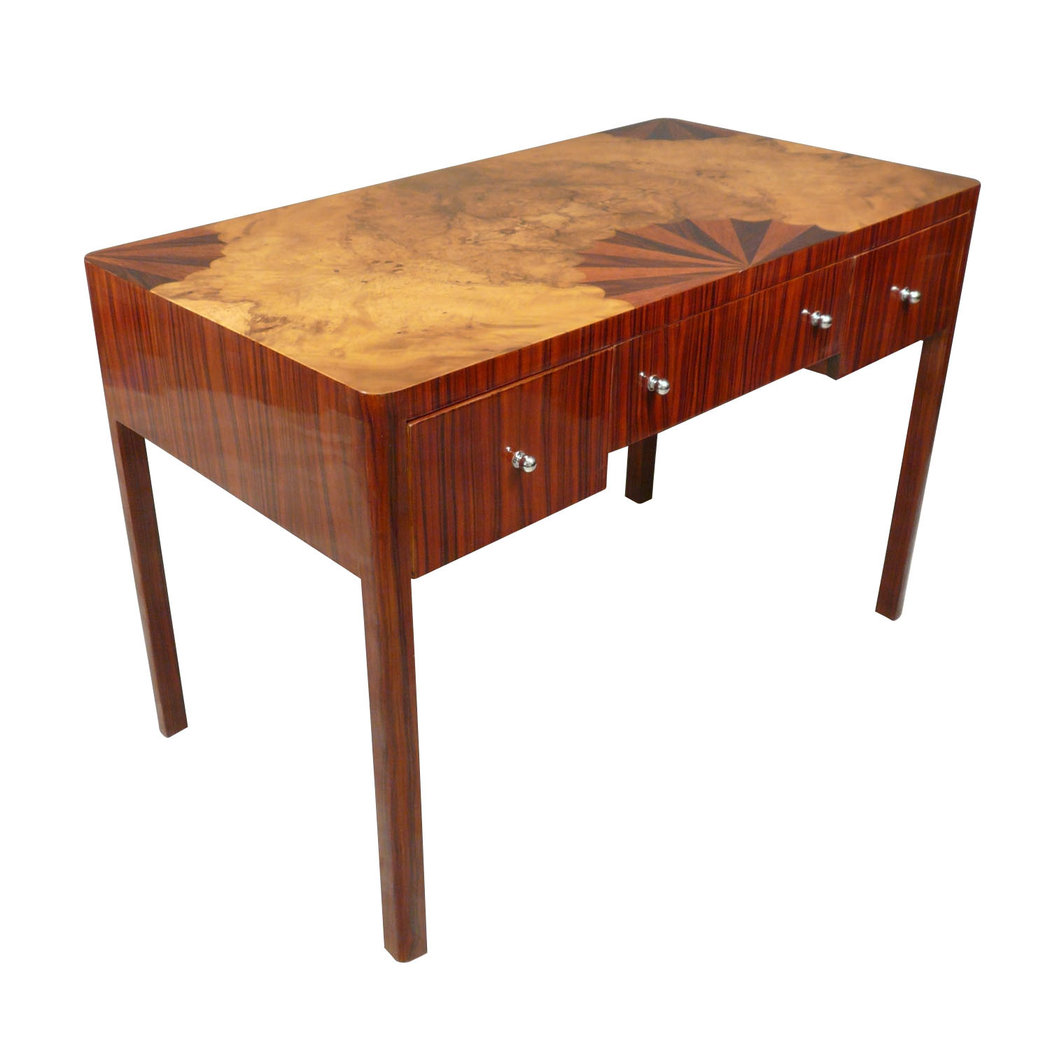 Bureau art d co en palissandre l 39 ventail meubles art d co for Meuble bureau 77