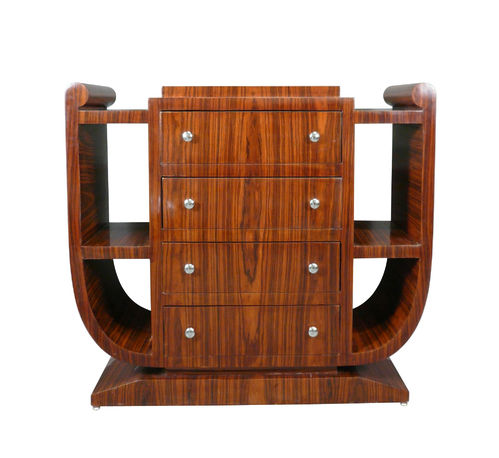 Library shelf furniture art deco