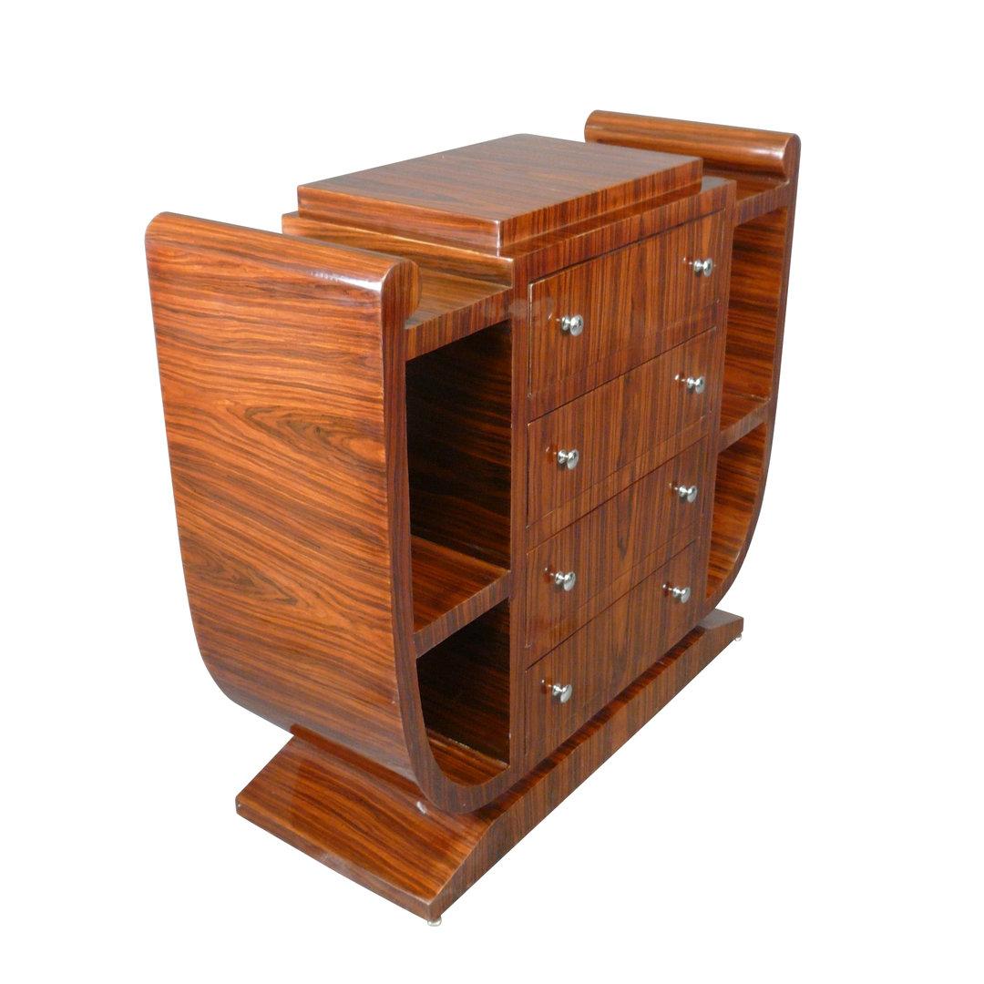 commode tag res art d co 4 tiroirs en palissandre. Black Bedroom Furniture Sets. Home Design Ideas