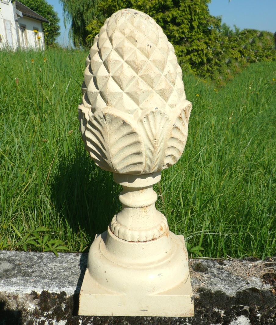 Pomme de pin en fonte meubles art d co lampe tiffany for Lampe pomme de pin