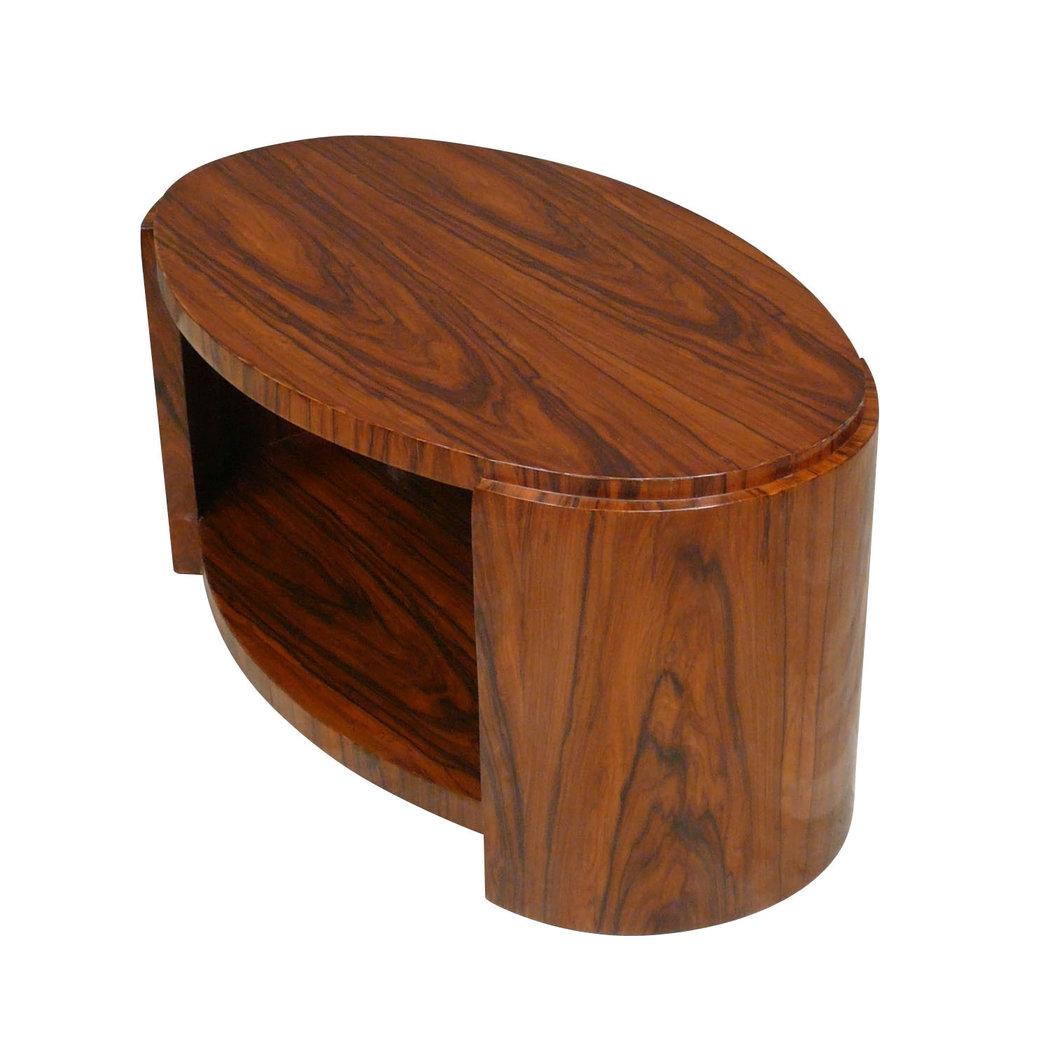 Table art d co basse ovale meubles art d co for Table salon art deco