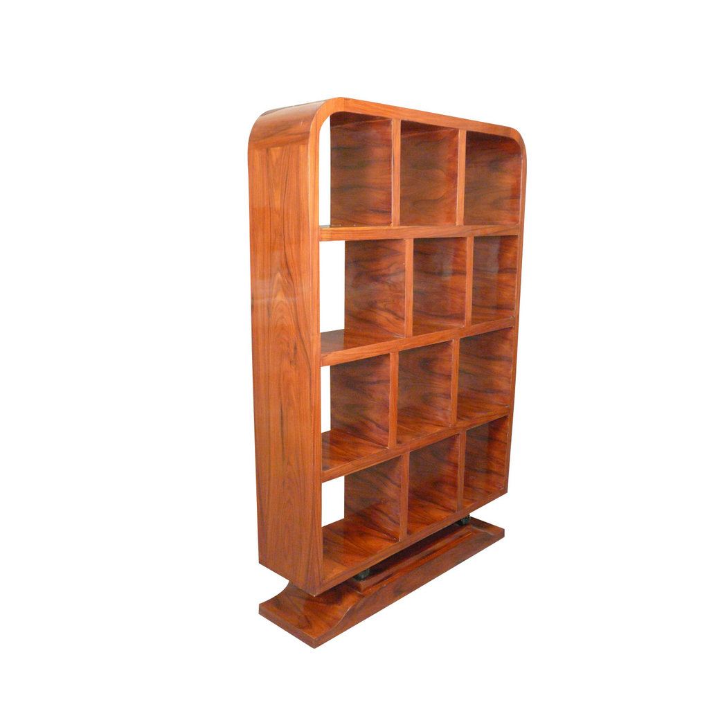 Meuble art d co de biblioth que en palissandre etagere for Meuble art deco
