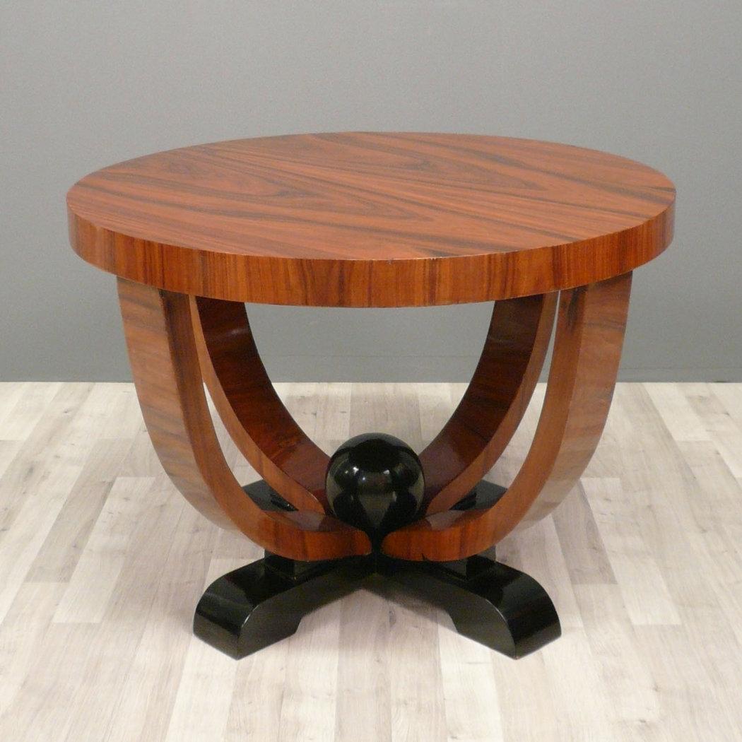 Table art d co table basse art d co ronde mobilier art for Meubles art deco