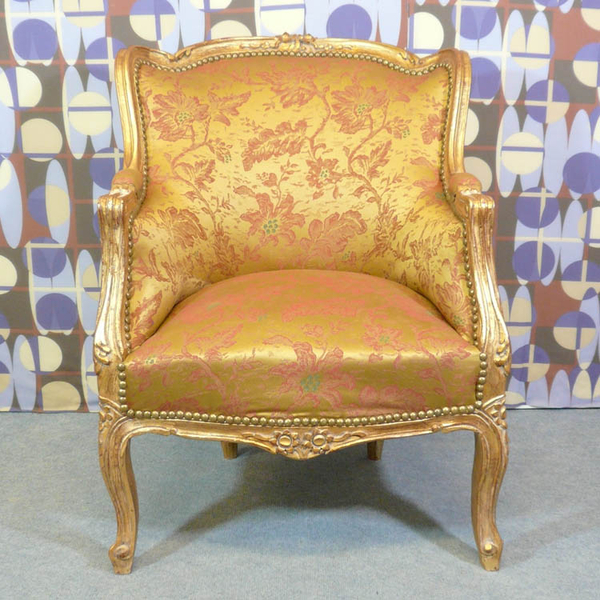 Fauteuil berg re style louis xv meubles art d co lampe tiffany fauteuil - Fauteuil style bergere ...
