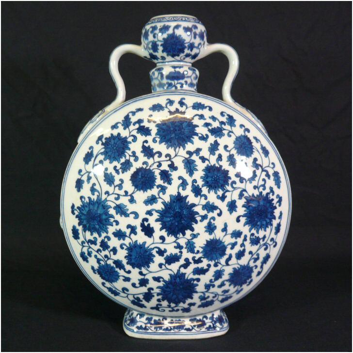 Vase En Porcelaine De Chine Blanc Bleu Meubles Art D 233 Co