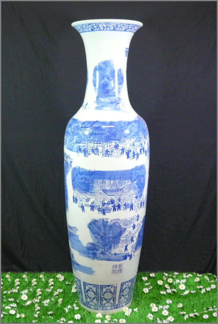 Tr s grand vase en porcelaine meubles art d co lampe for Deco quoi mettre dans un grand vase