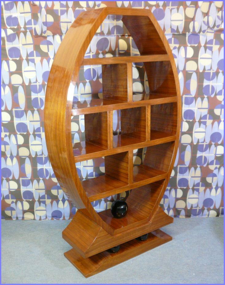 meuble biblioth que style art d co en acajou blond meubles art d co lampe tiffany fauteuil. Black Bedroom Furniture Sets. Home Design Ideas