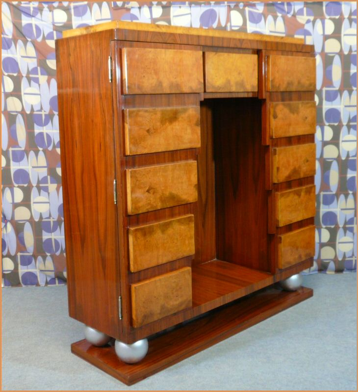 meuble bibliothèque style art déco - meubles art déco - lampe