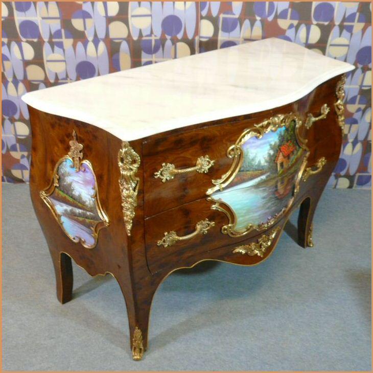 Commode style louis xv meubles art d co lampe tiffany fauteuil baroque vase m dicis - Meuble tiffany ...