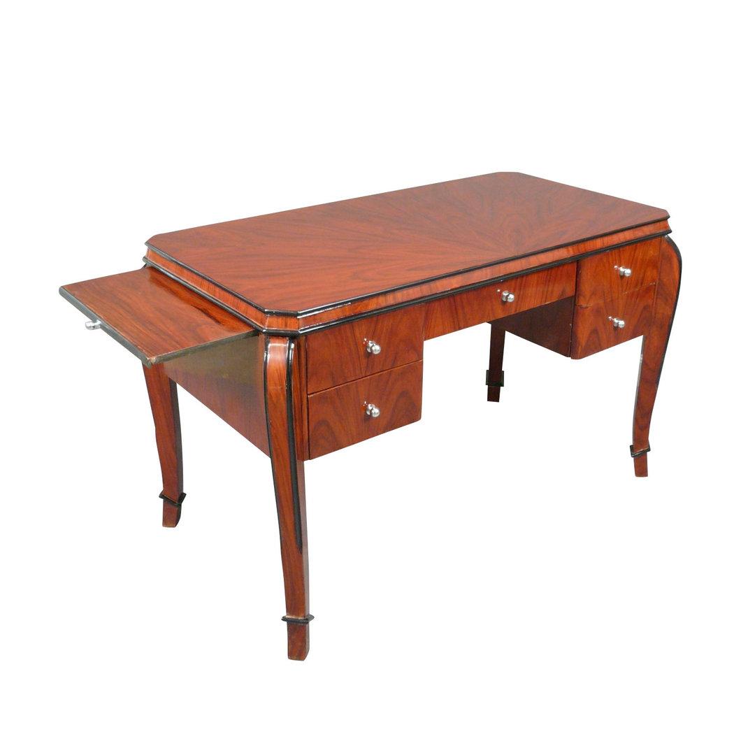 bureau art d co en palissandre avec tablettes meuble art d co. Black Bedroom Furniture Sets. Home Design Ideas