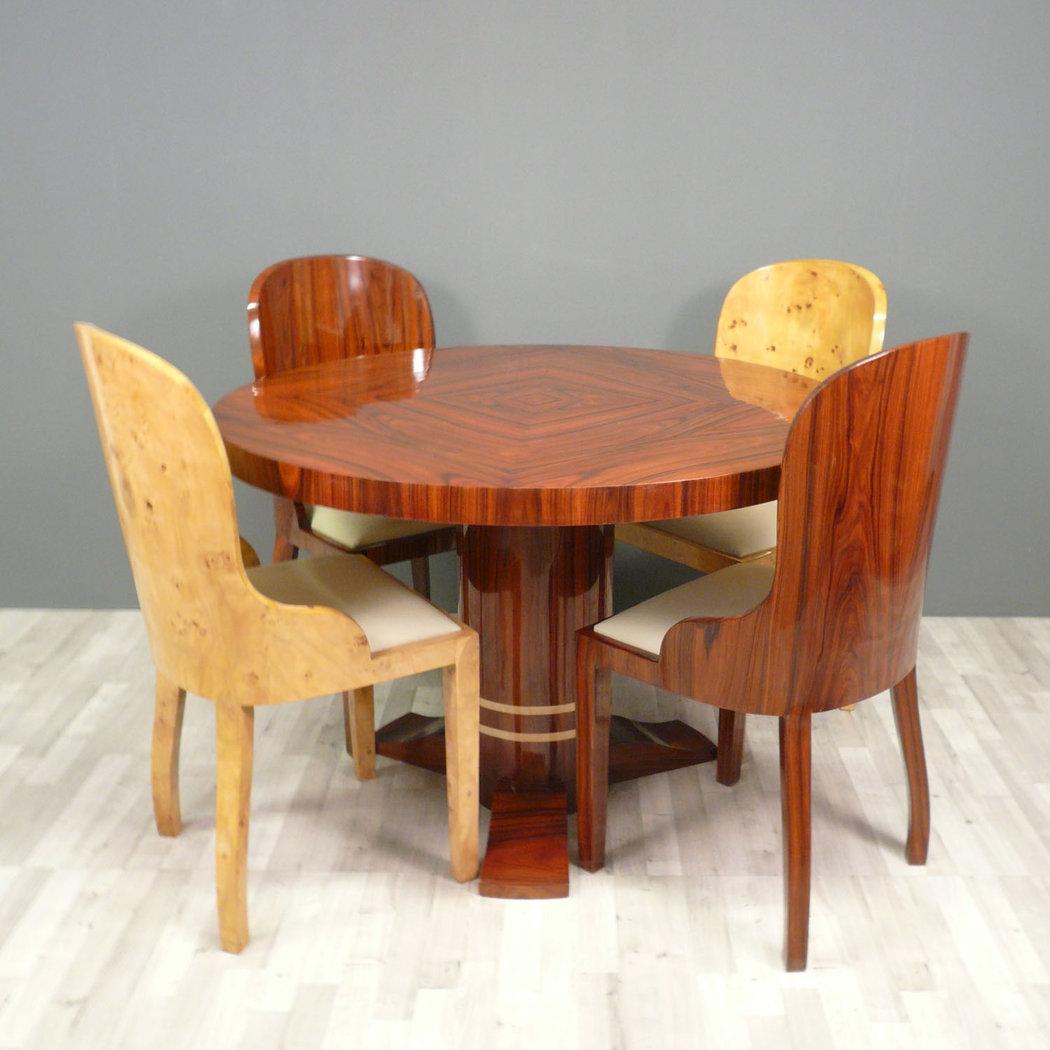 Table art d co ronde mobilier art d co for Table salon art deco