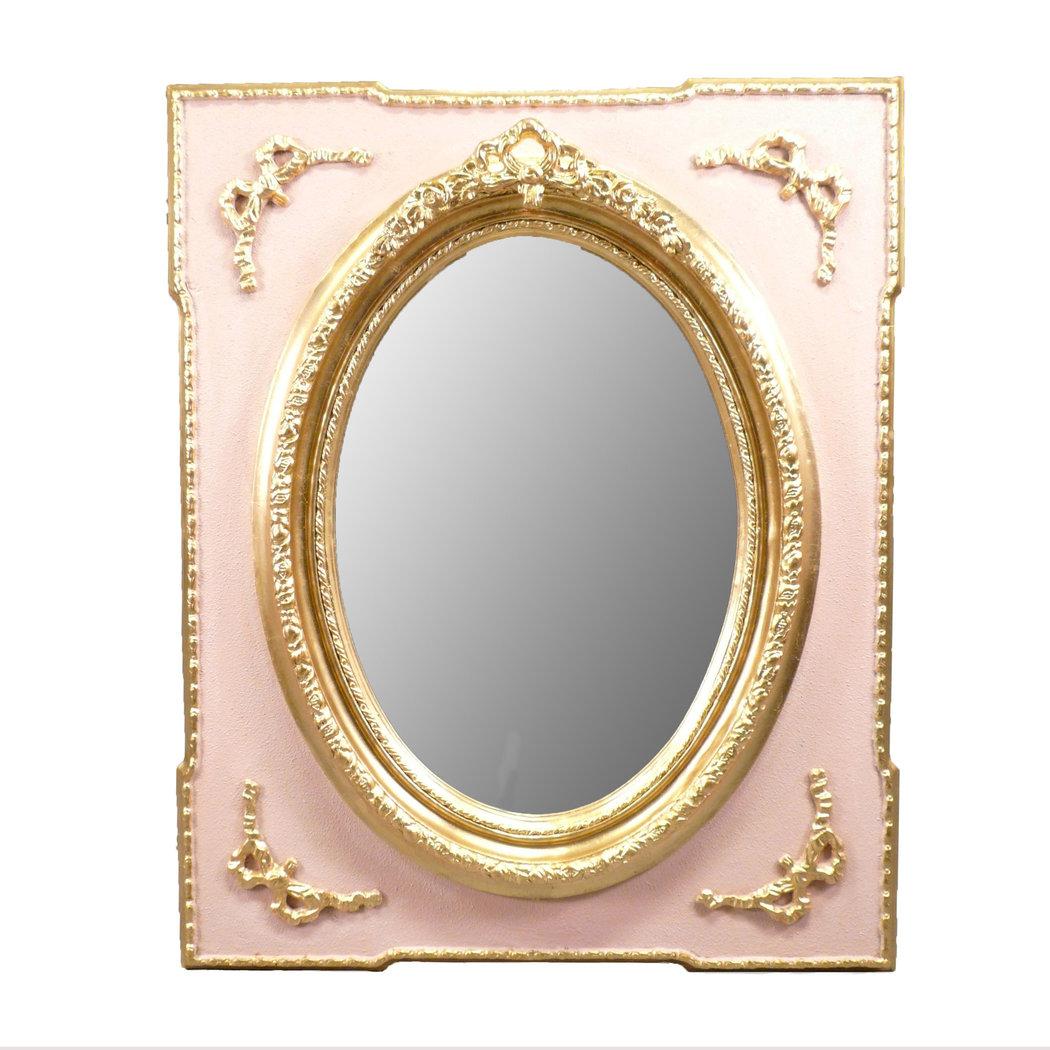 Miroir baroque rose meuble et chaise baroque for Miroir baroque rectangulaire