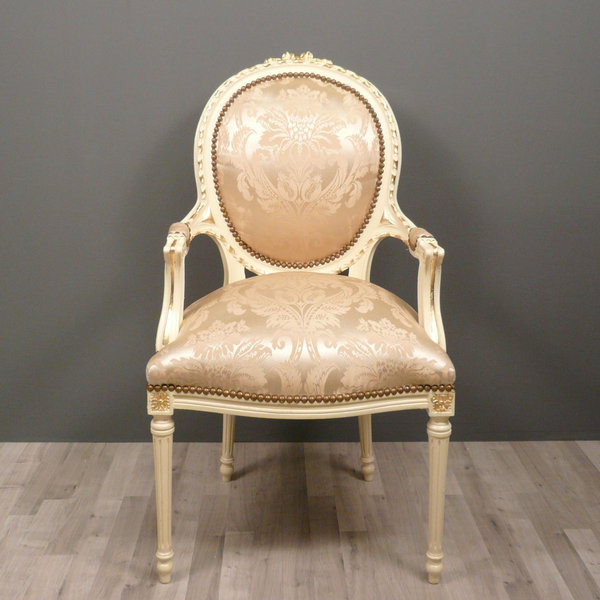Medallion armchair louis xvi baroque chairs - Chaises louis 16 ...