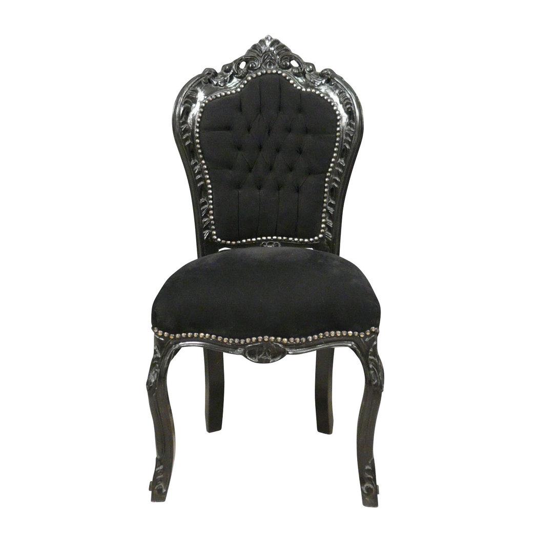 chaise baroque noire fauteuil baroque meuble baroque. Black Bedroom Furniture Sets. Home Design Ideas