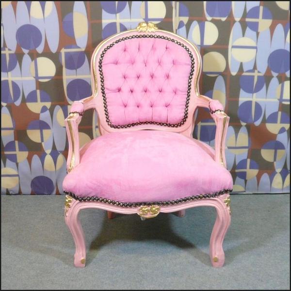 Fauteuil enfant rose style louis xv meubles art d co lampe tiffany faut - Fauteuil enfant rose ...