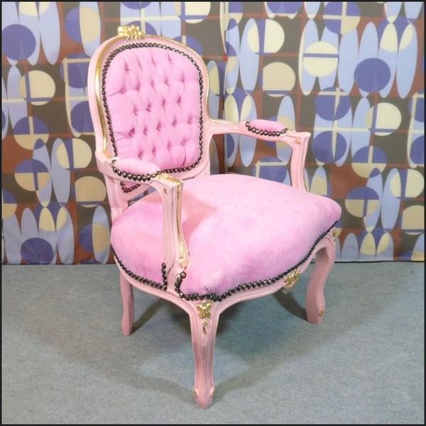 Fauteuil enfant rose style louis xv meubles art d co lampe tiffany fauteuil baroque vase - Meuble tiffany ...