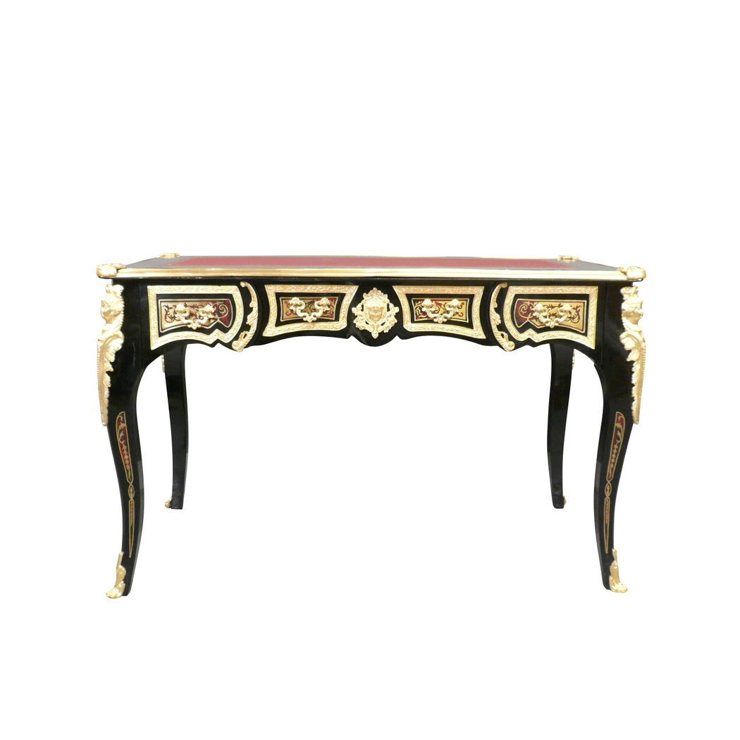 Bureau louis xv boulle meuble louis xv for Meuble bureau louis xv