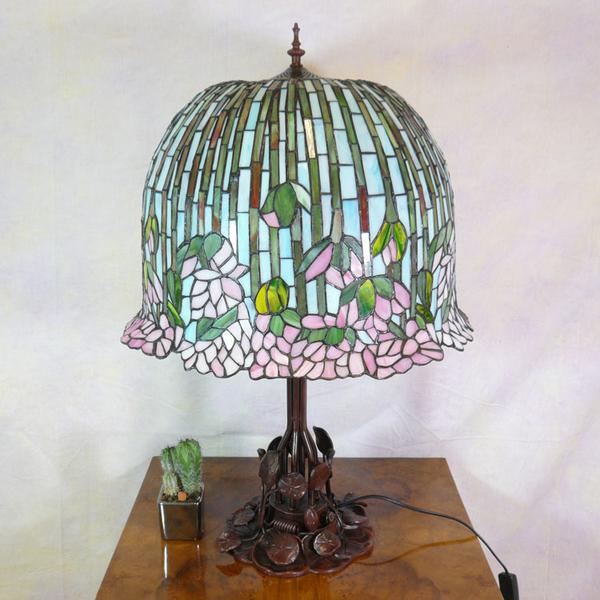 Lampe Fleurs De Lotus De Style Tiffany Lustres