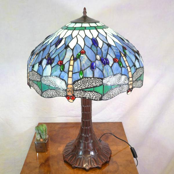 Tiffany-Lampe Blaue Libelle - Kronleuchter