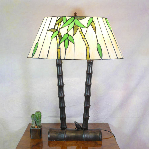 Bamboo lamp style tiffany tiffany floor lamps for Tiffany bamboo floor lamp