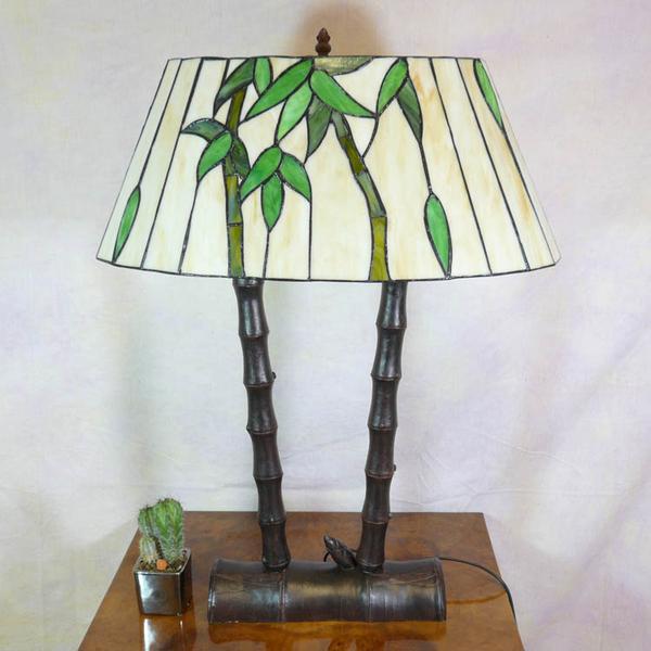 Lampe Bambous De Style Tiffany Lampadaires