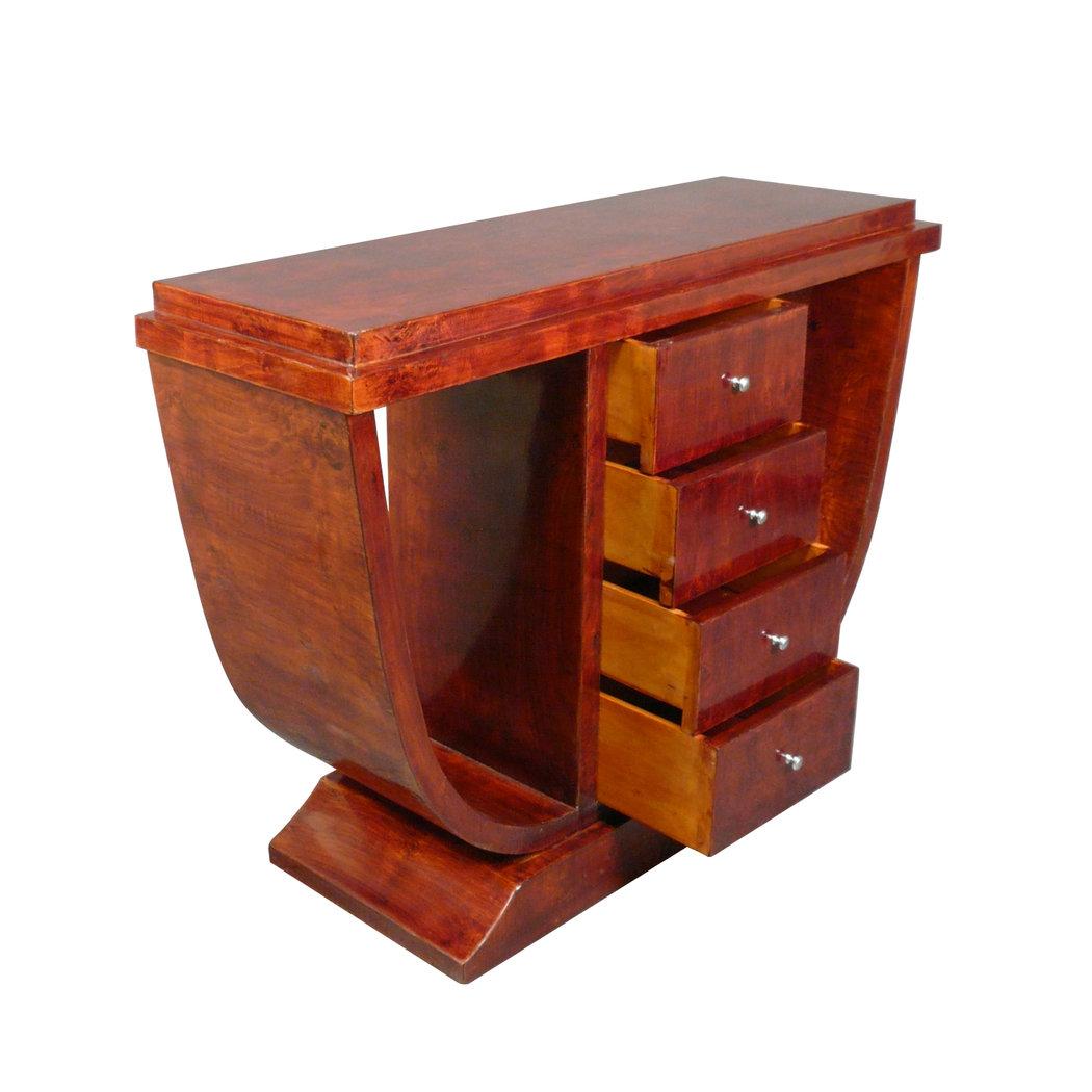 Console art d co nice en bois d 39 rable mobilier art d co for Meuble art deco occasion