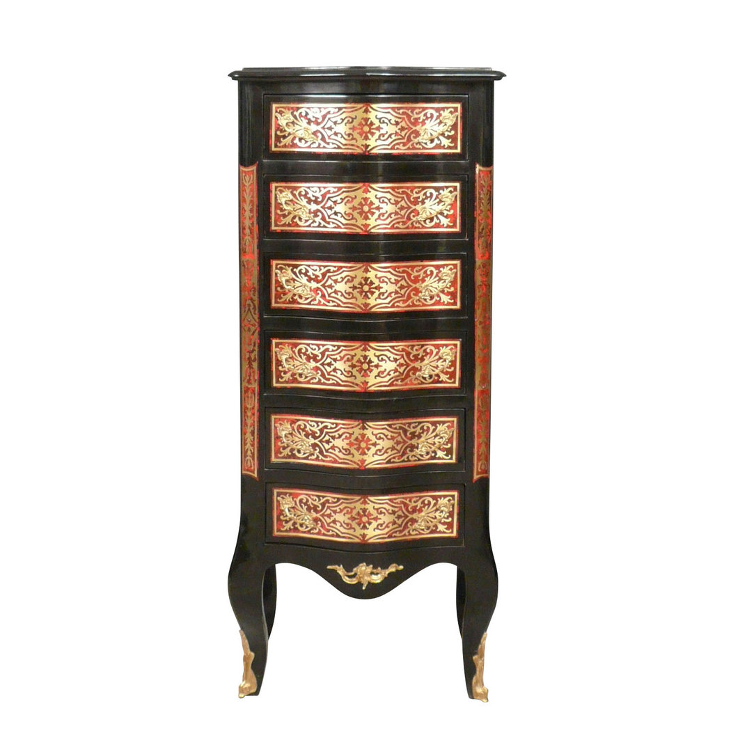 semainier louis xv style boulle commode louis xv. Black Bedroom Furniture Sets. Home Design Ideas
