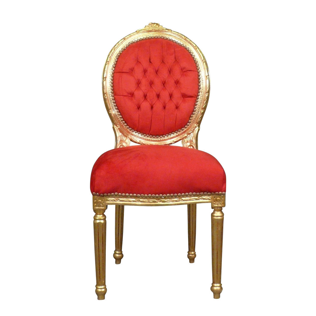 Chaise louis xvi rouge meuble baroque - Chaise de bureau baroque ...