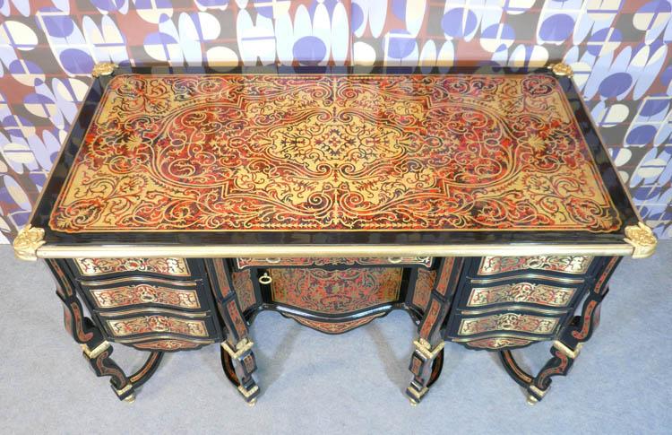 Louis xiv style desk said mazarin tiffany lamps bronze for Meuble louis xiv