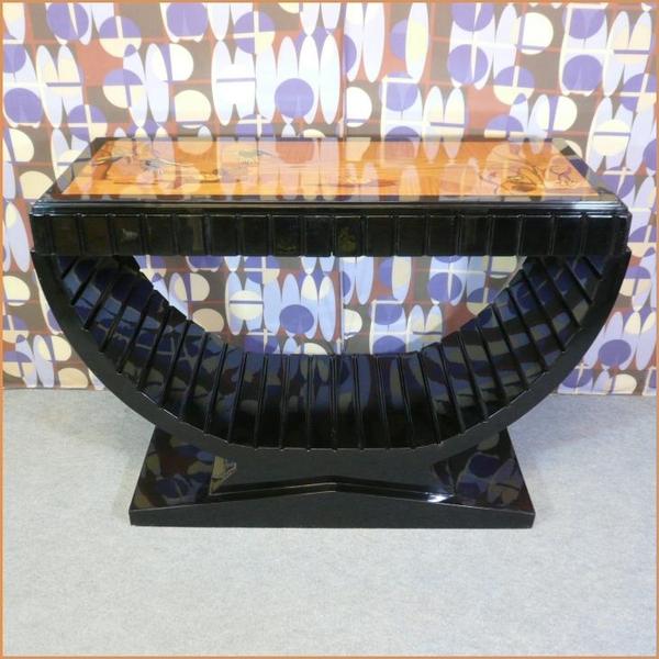 Console art d co marqueterie meubles art d co fauteuils baroques lampes tiffany - Meuble tiffany ...