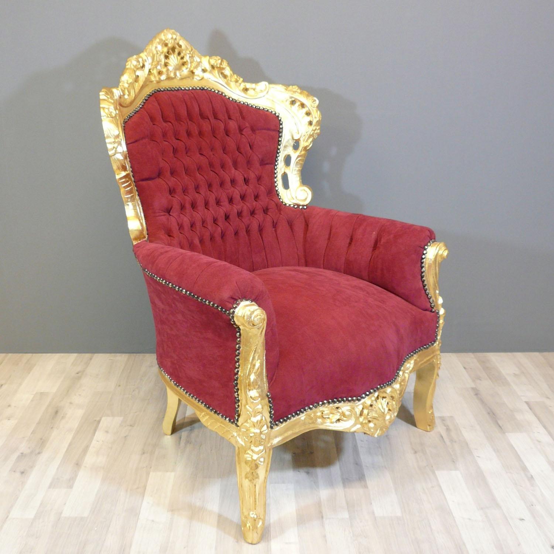 fauteuil baroque bordeaux mobilier et chaise art d co. Black Bedroom Furniture Sets. Home Design Ideas