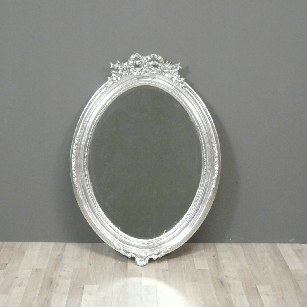 Pin louis xv on pinterest for Miroir contour argent