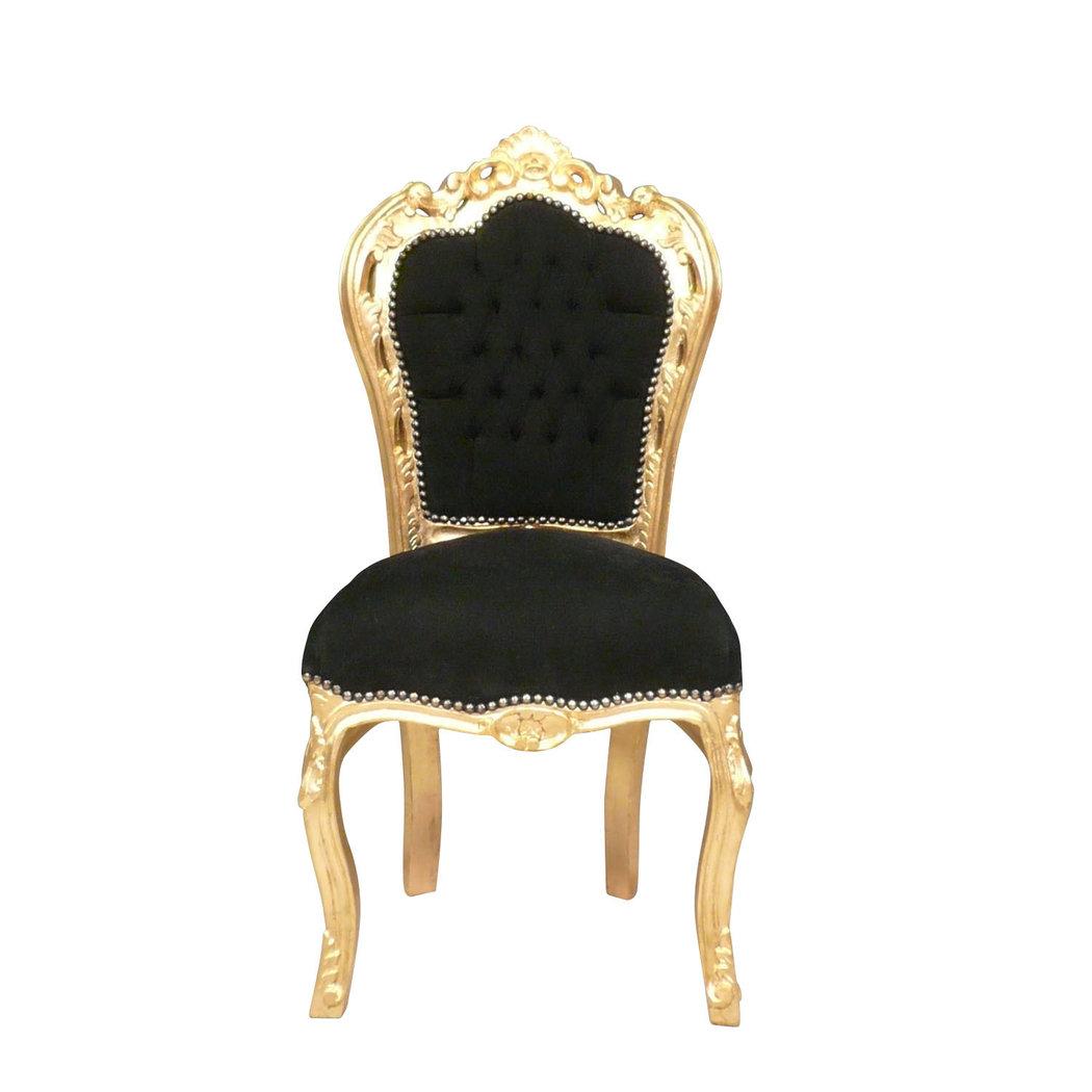 Chaise Baroque Noire Et Or Canap Baroque Meuble Baroque