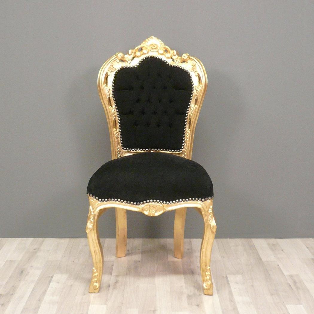 chaise baroque noire et or canap baroque meuble baroque. Black Bedroom Furniture Sets. Home Design Ideas