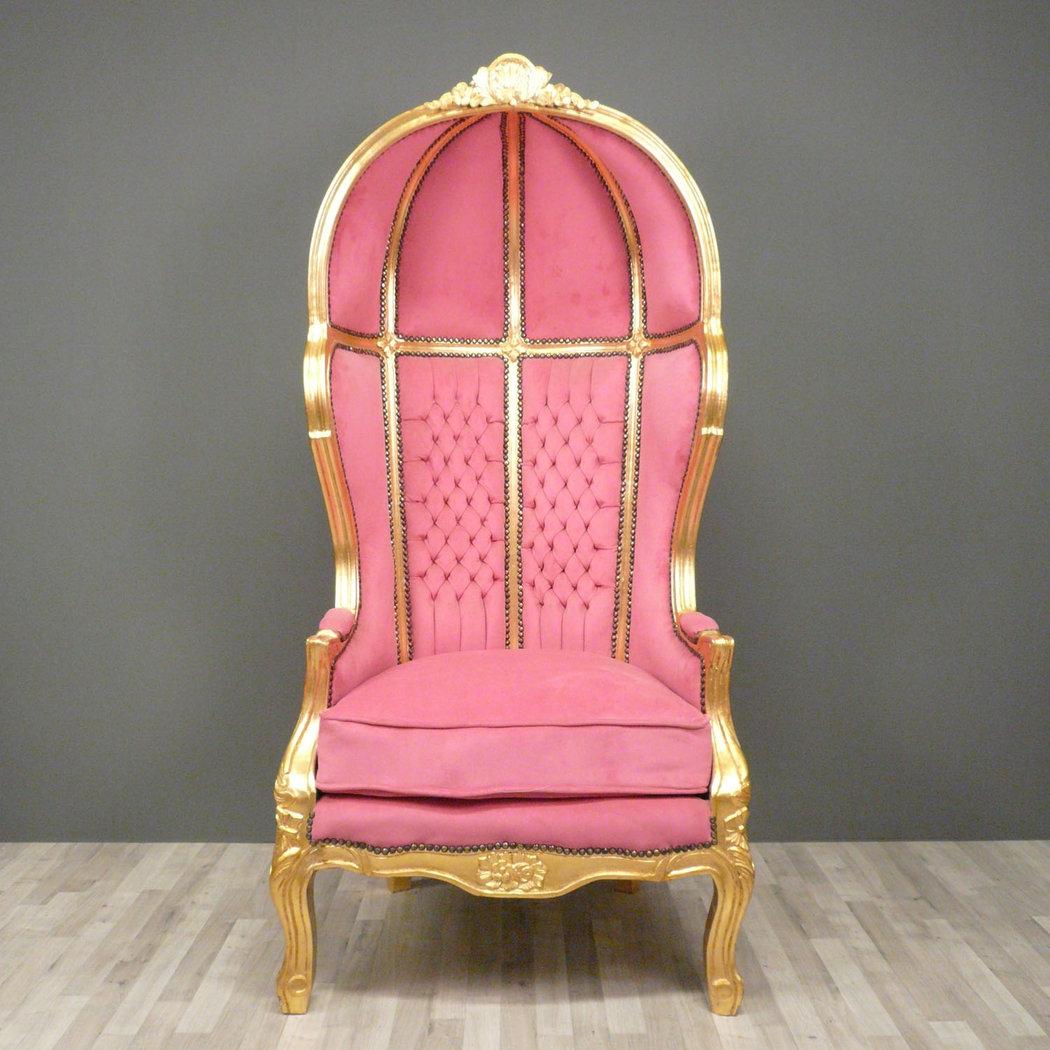 fauteuil baroque carrosse rose chaises. Black Bedroom Furniture Sets. Home Design Ideas