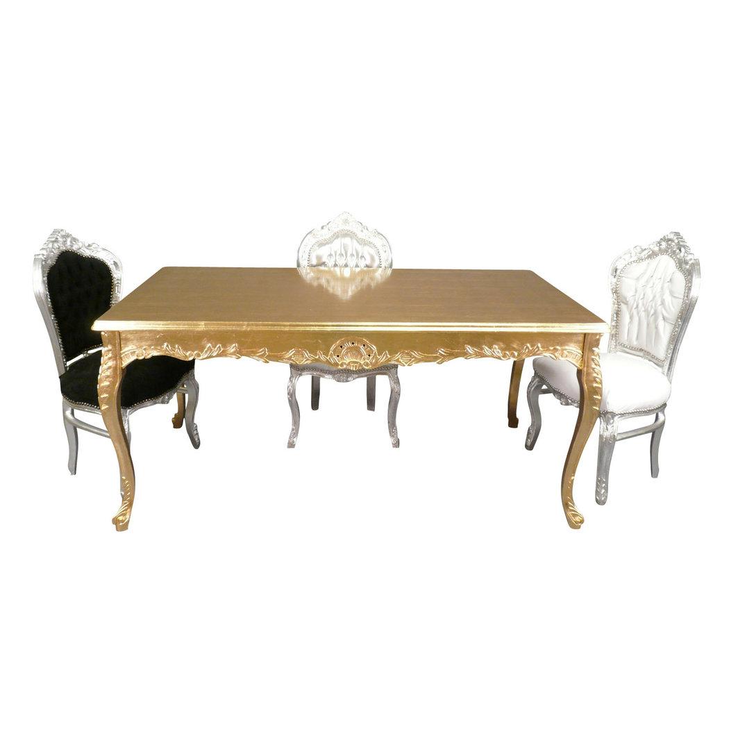 Table baroque en bois dor meuble baroque for Meuble baroque