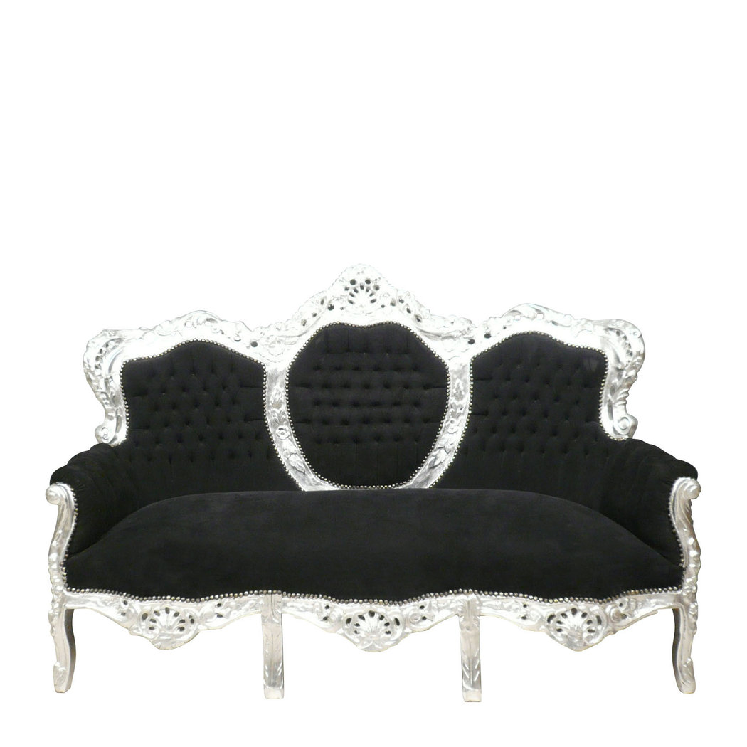 Black baroque sofa baroque armchairs for Canape poltrone et sofa