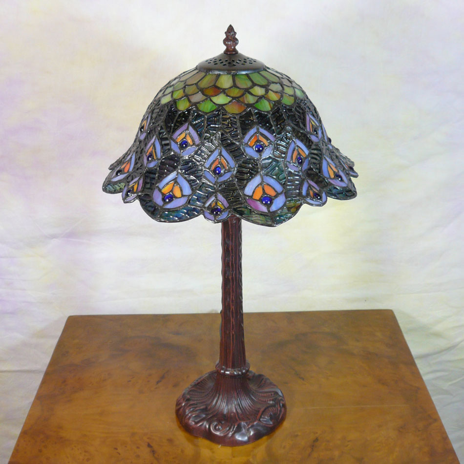 Tiffany Style Peacock Lamp Tiffany Lamps Bronze