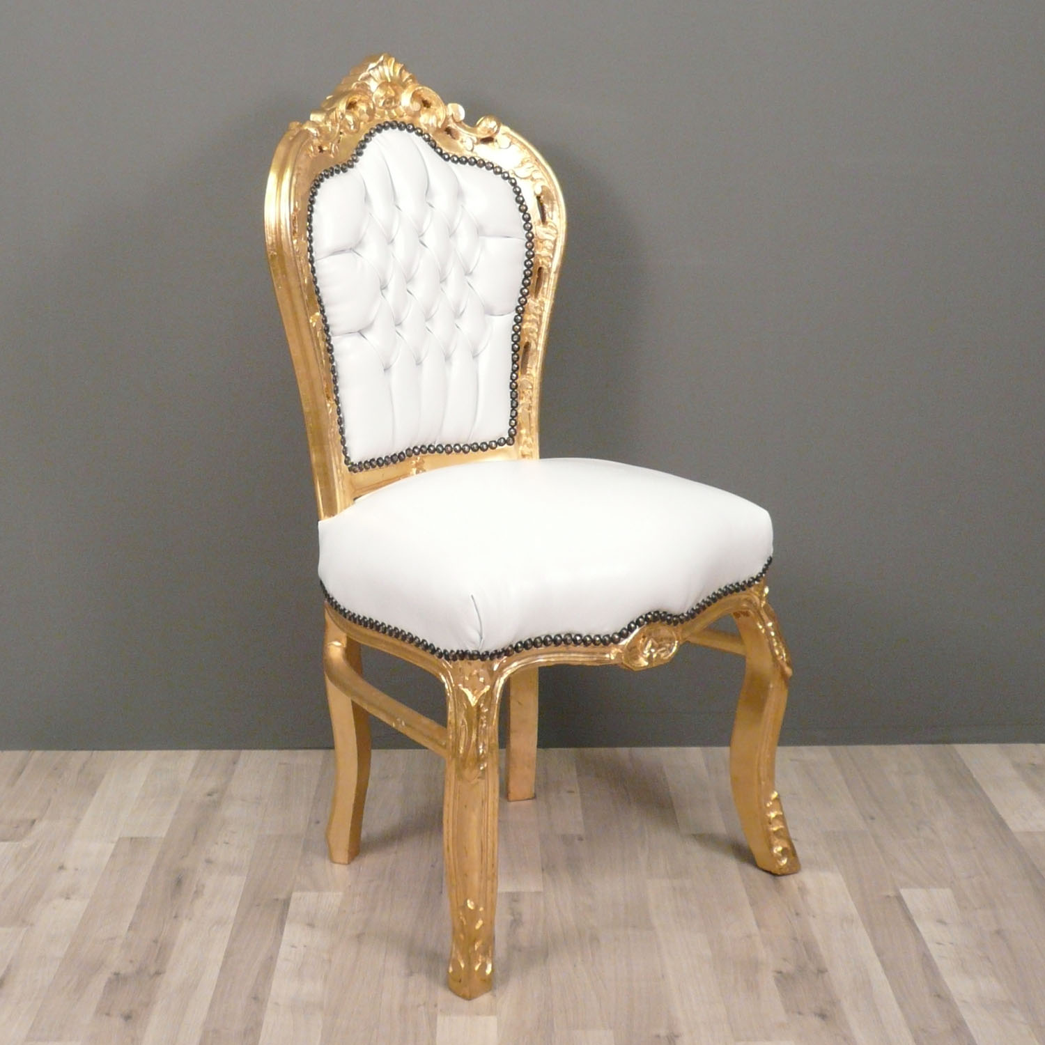 Chaise baroque banche et or canap baroque - Chaise baroque blanche ...