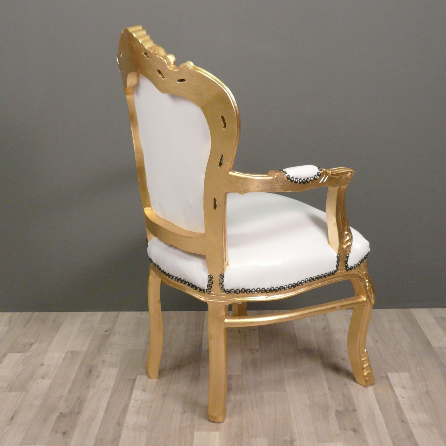 Baroque armchair white and gold baroque - Fauteuil baroque ikea ...