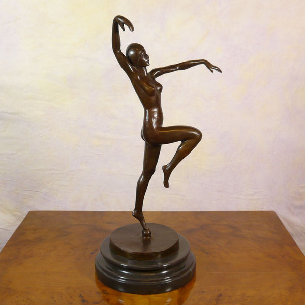 Danseuse statue en bronze statue bronze sculptures en for Statue deco salon