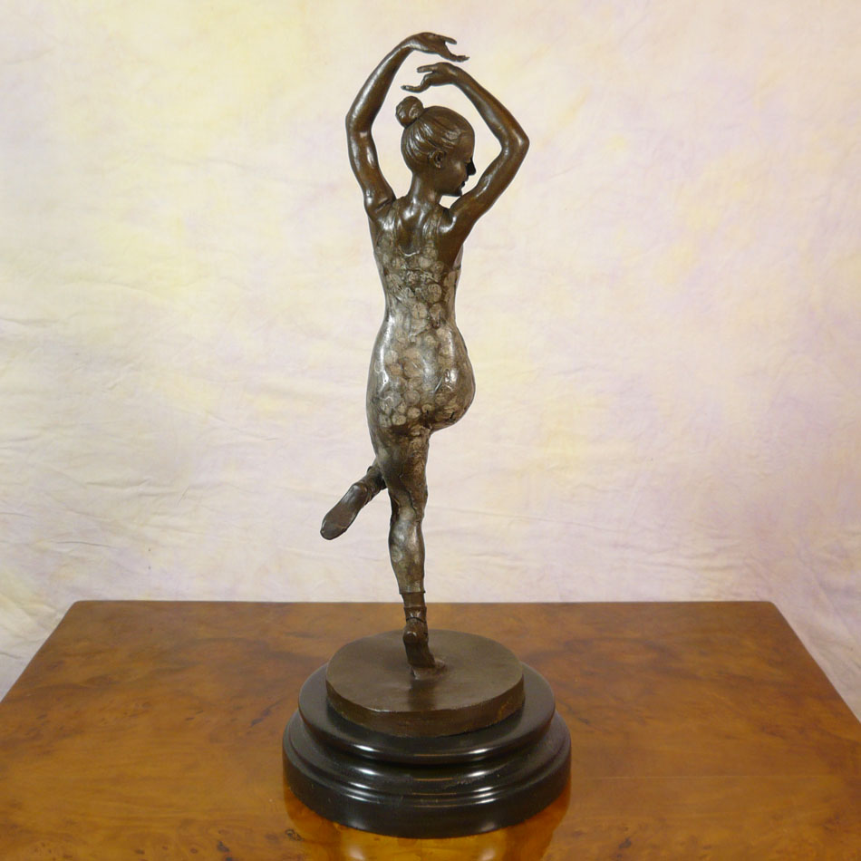 Art Deco Bronze Sculpture Dancer Statues