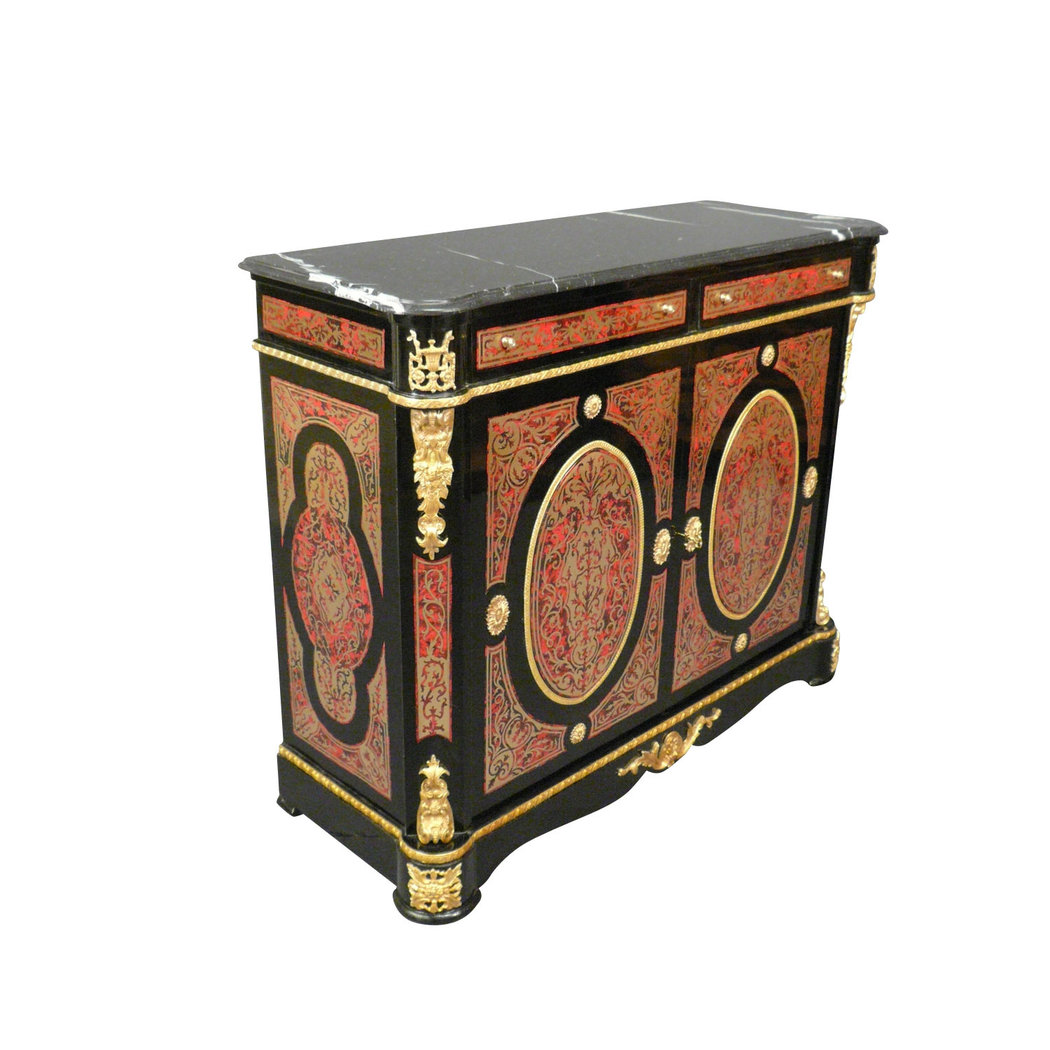 buffet empire en marqueterie boulle meubles de style. Black Bedroom Furniture Sets. Home Design Ideas