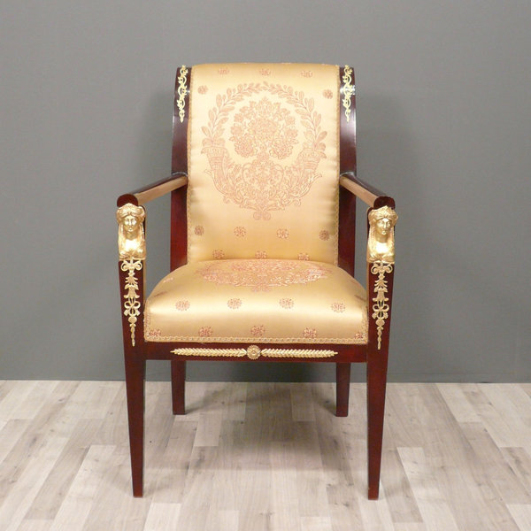 Fauteuil empire en acajou meuble empire for Lions du meuble