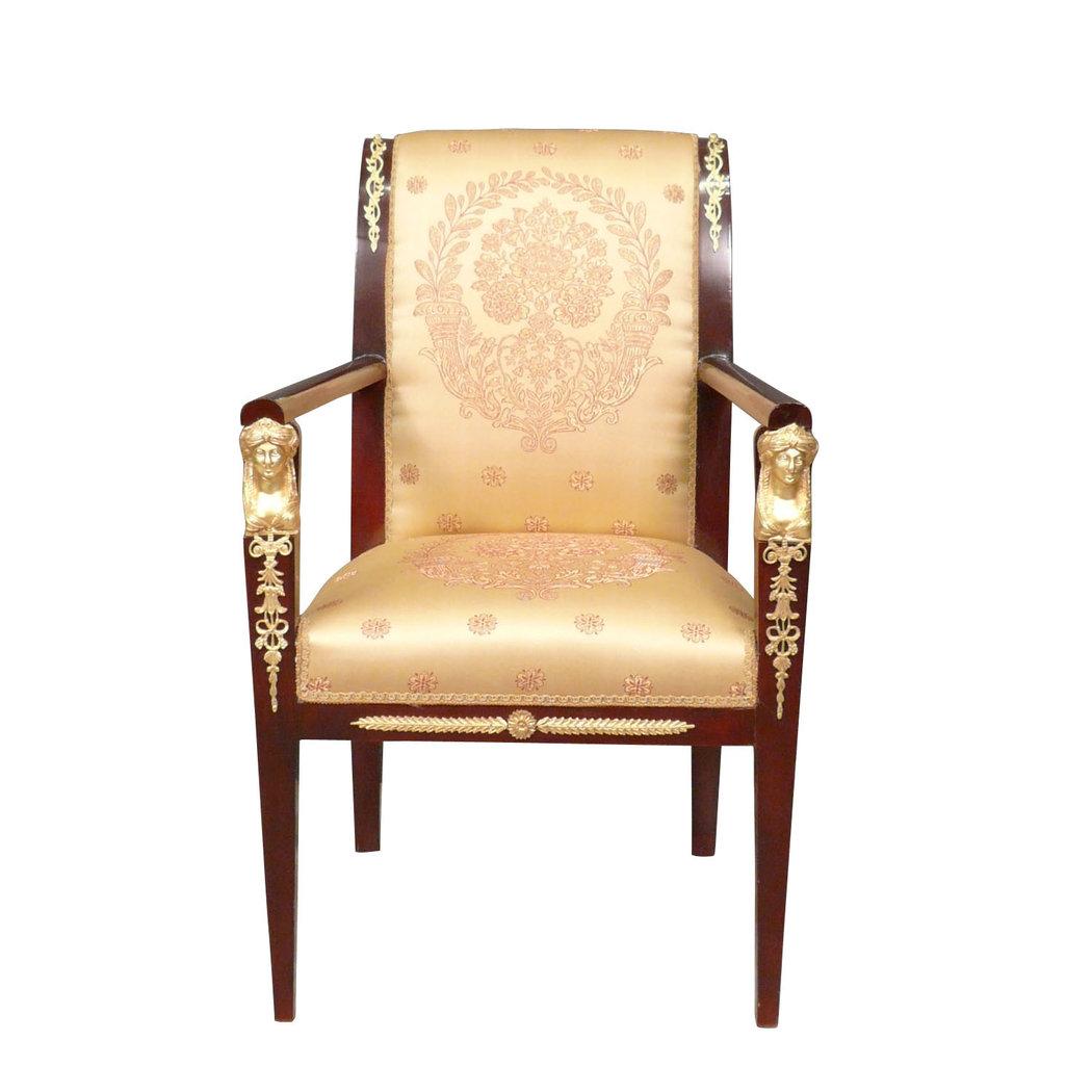 fauteuil empire en acajou meuble empire. Black Bedroom Furniture Sets. Home Design Ideas