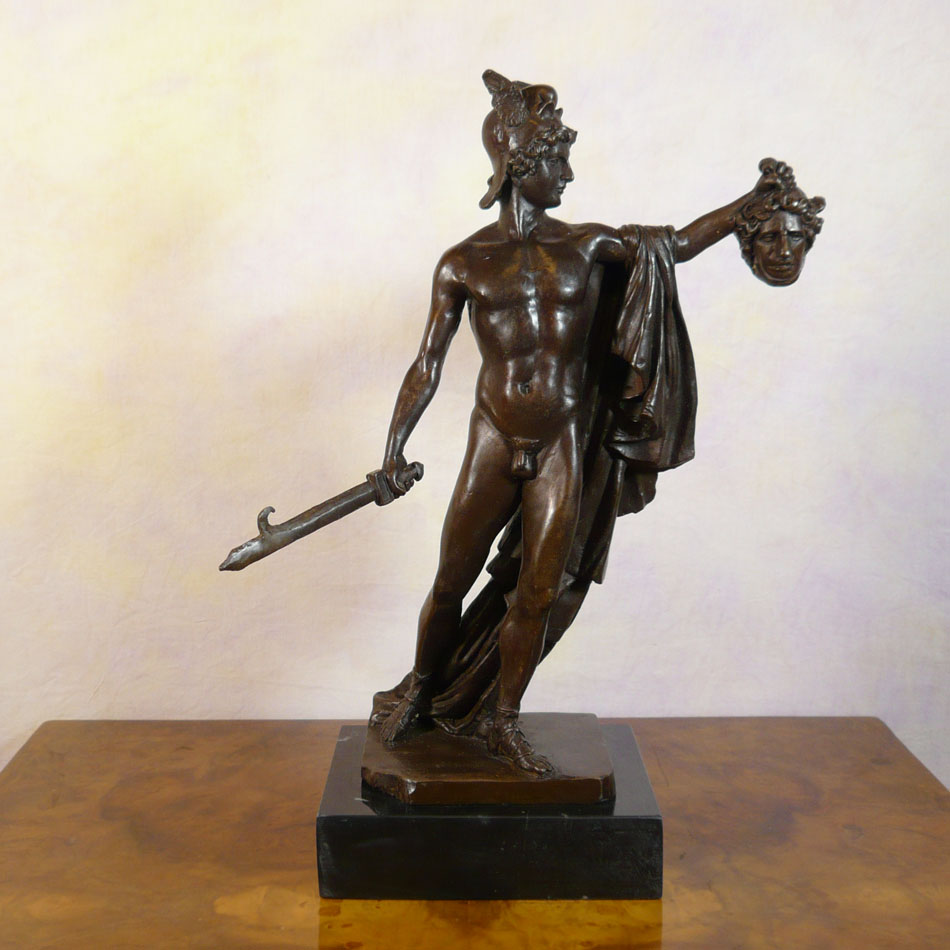 Perseus Holding The Head Of Medusa Bronze Statue