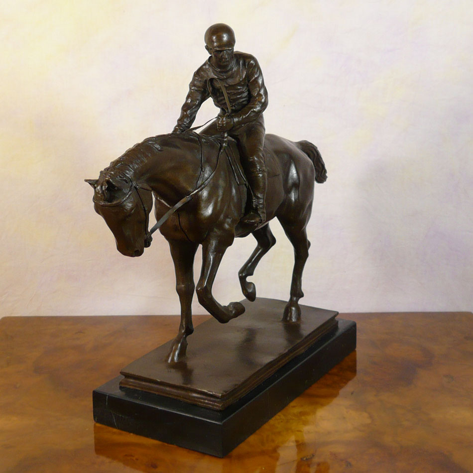 Bronze Equestrian Statue Jockey Horse Sculpture