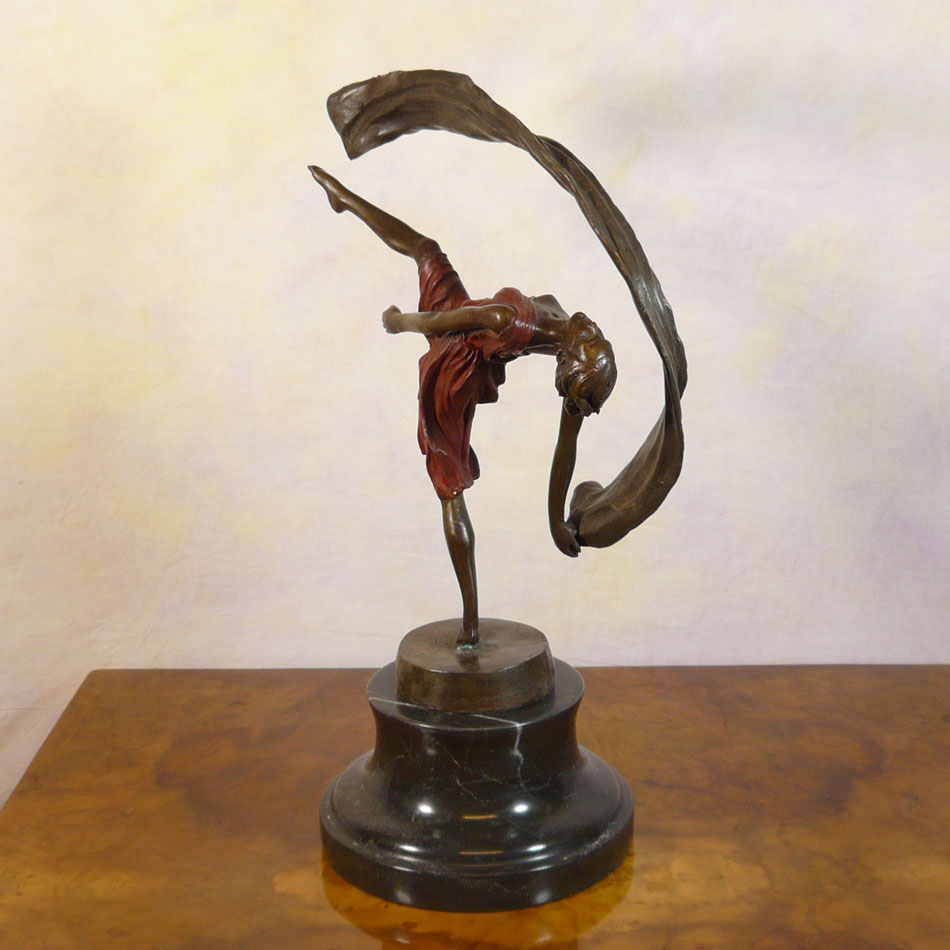 Bronze Sculpture Of A Dancer Art Deco Tiffany Lamps