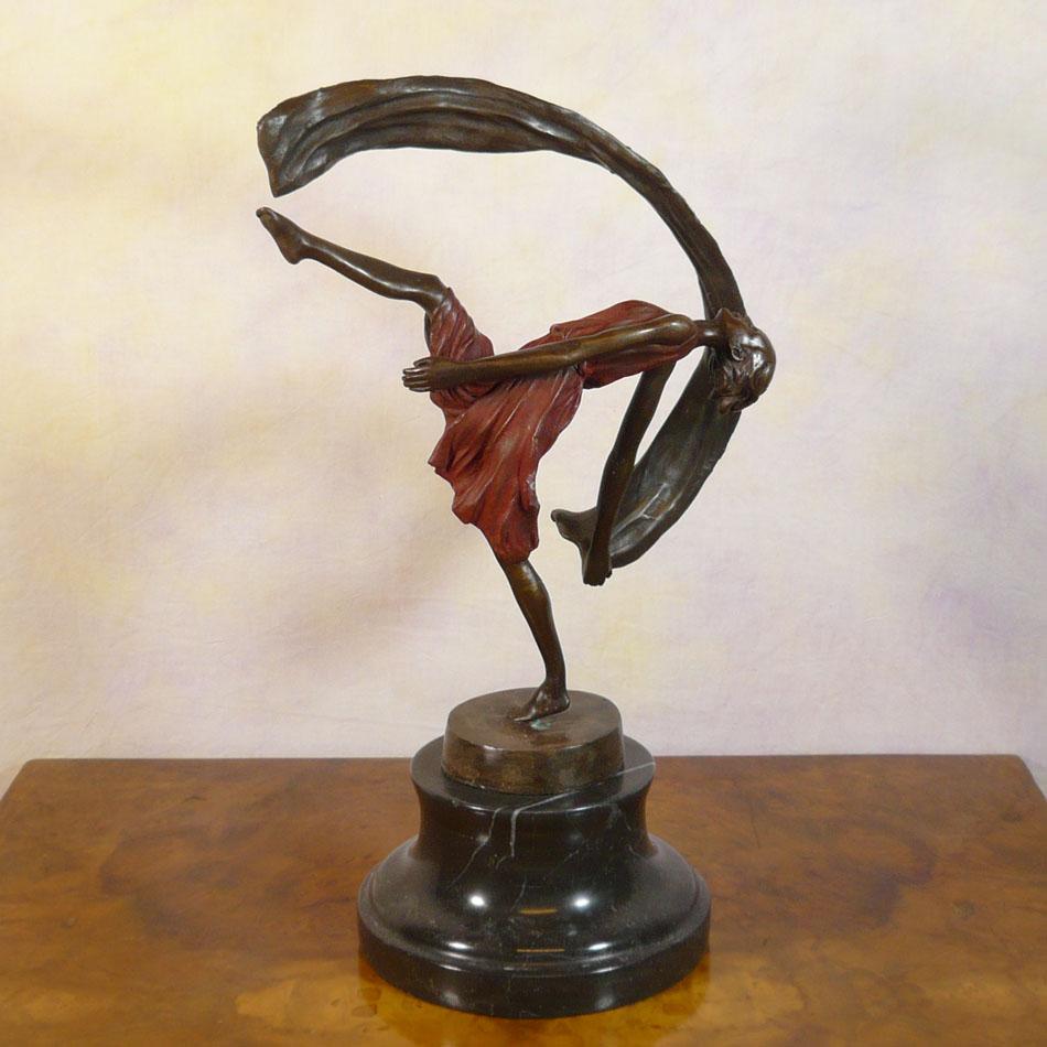 Bronze Sculpture Of A Dancer Art Deco Tiffany Lamps